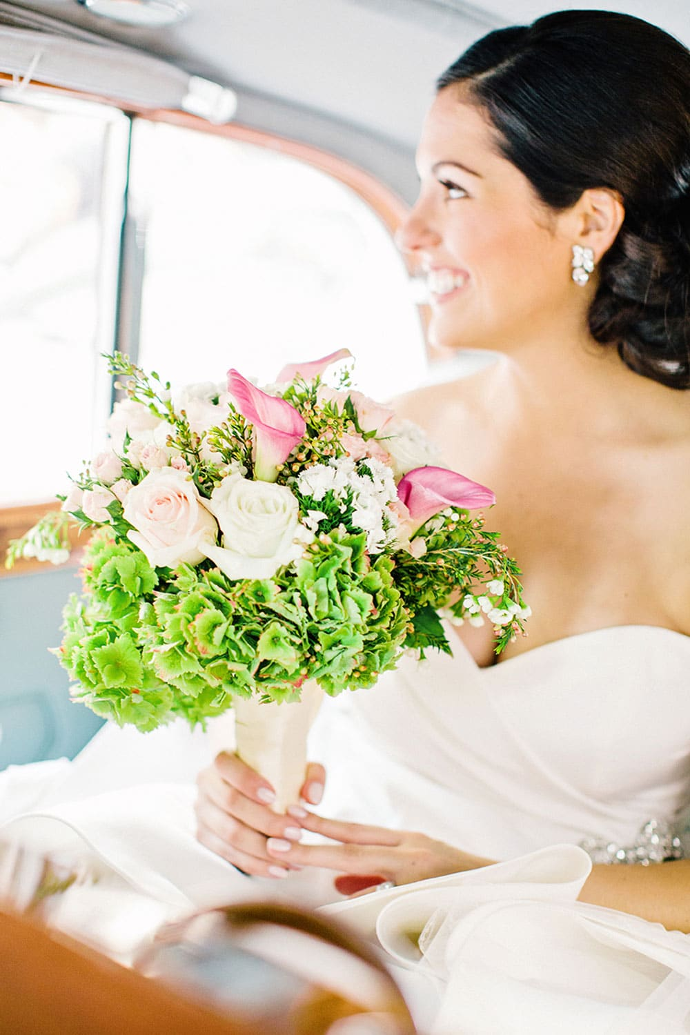 Bride Holding Bouquet in Boston Wedding Photo